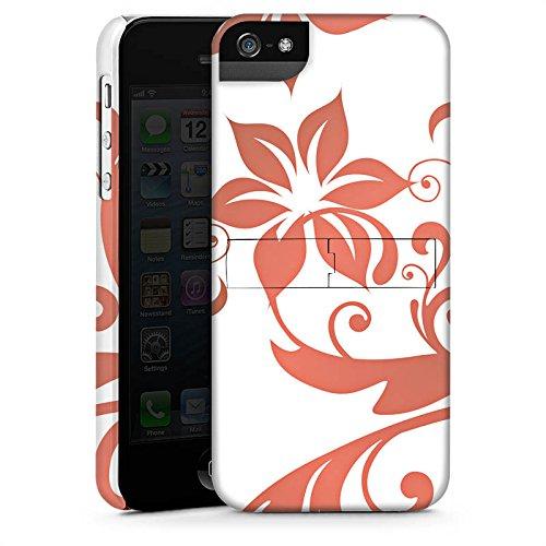 Apple iPhone 4 Housse Étui Silicone Coque Protection Fleurs Fleurs Vrilles CasStandup blanc
