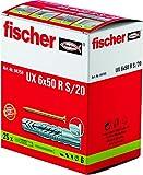 FISCHER 94759 UX 6 x 50 R S/20 Clous, vis et Fixations, Gris