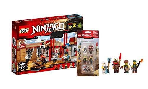 Preisvergleich Produktbild Lego ® Ninjago Set - Masters of Spinjitzu - 70591 Kryptarium-Gefängnisausbruch und 4er Figuren Battle Pack mit Zane, Samurai-X und 2 Himmelspiraten