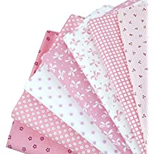 Paquetes de 50x 50cm la Haute bebé tela lunares impreso tela de algodón cómodo Tejido Patchwork Home gamuza de Material textil para coser, Rosa, talla única