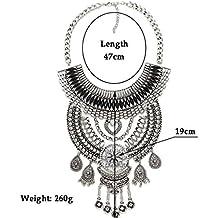 Las mujeres de moda vintage aleación Rhinestone corto clavícula collar de declaración