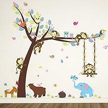 ElecMotive Pegatina para pared decorativos para Decorar Las habitaciones de los niños Mono