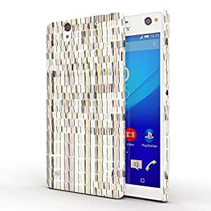 Koveru Designer Printed Protective Snap-On Durable Plastic Back Shell Case Cover for SONY XPERIA C4 - Pattern on Wall