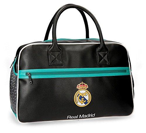 Real Madrid RM Leyenda Bolsa de Viaje, 49 cm, 29.79 Litros, Negro