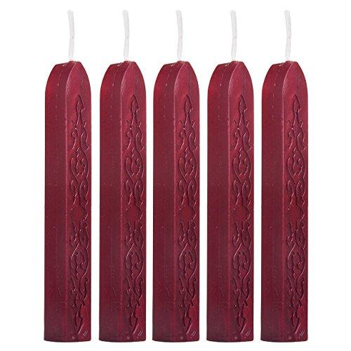 sungpunet 5x Wein Rot Wachs leitet Sticks für Porto Buchstabe Manuscript fadensiegelung Siegel