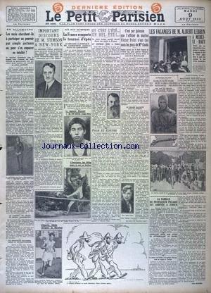 PETIT PARISIEN DERNIERE EDITION DE 5 HEURES (LE) [No 20251] du 09/08/1932