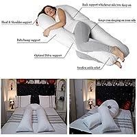 Big u-shape Maternity pillow- gravidanza sollievo dal dolore Full Body Support piuma d' anatra e cuscino riempito/anallergico Ulitmate comfort e sostegno cuscino da allattamento lussuoso di misura 2,7m