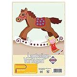 matches21 Schaukelpferd Holz Laubsägevorlage DIN A4 Holzvorlage für Kinder zum Aussägen / Laubsäge Vorlage