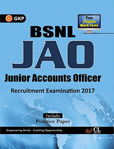 BSNL JAO (Junior Accounts Officer) Recruitment Examination 2017
