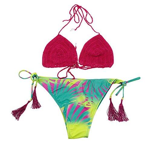SSITG Frauen Bademode Bikini Push-Up trägerlos Triangel Bandeau badeanzug Swimwear #27