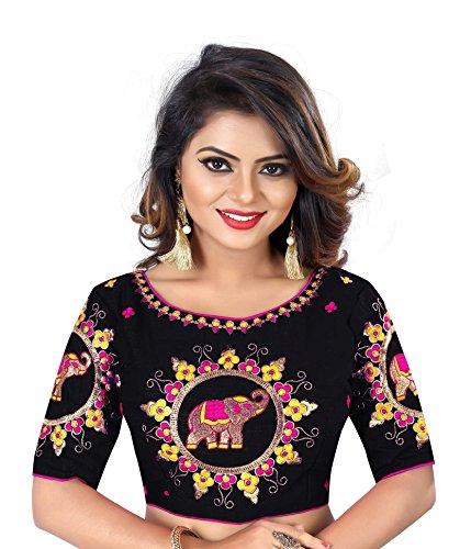Kuvarba Fashion Womens Banglori Silk Heavy Embroidery Work Stitched Ready made saree...