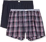 ESPRIT Herren Boxershorts Graham 2 2woven Shorts, Blau (Navy 400), Medium (Herstellergröße: 5)