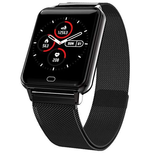 Ears Health & Fitness SmartWatch Mehrere Fitness-Modi Übung Herzfrequenz Schrittzähler Uhr Intelligente Armbanduhr Fitness Tracker Armband Sport Uhr mit Kompatibel mit Android Smartphone (Schwarz) (Android-digital-mobiltelefon)