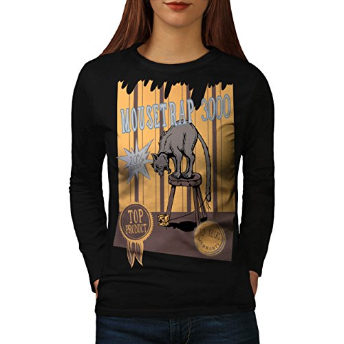 mouse-trap-cat-bait-cheese-lure-women-new-black-m-long-sleeve-t-shirt-wellcoda