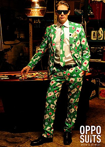 Erwachsene Mens Las Vegas Poker Anzug Kostüm Small/Medium (EU48 UK38)