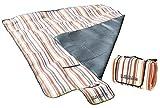 PEARL Aufrollbare Fleece-Picknick-Decke 200 x 175 cm