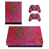 Wondder Xbox One X Haut Aufkleber, Schutz Vinyl Aufkleber Haut Aufkleber für Xbox One X Konsole + 2 Controller Skins + 2 x Silikon Daumen Griffe (Farbe 5)