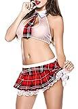 Mini schoolgirl lingerie Interior Picardias sin Cintura Disfraza Lencería Estilo Colegiala