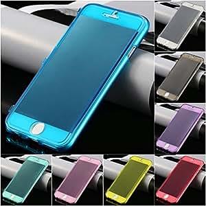 Coque transparente étui housse gel souple silicone rabat flip pour iPhone 6 4.7pouces + stylet offert