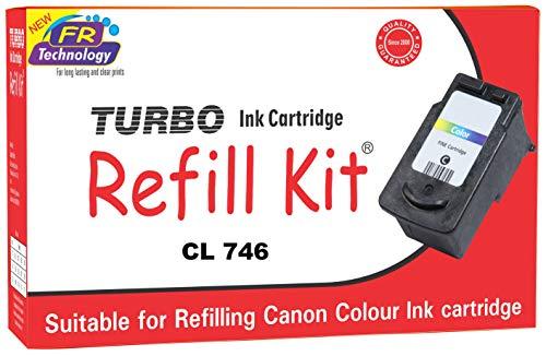 Turbo Ink Cartridge Refill Kit for Canon CL 746 multi colour