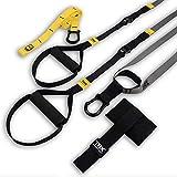 TRX Training - GO Suspension Trainer-Kit, Der leichteste und kleinste Suspension Trainer - Perfekt geeignet für unterwegs und für das Training im Innen- und Außenbereich (Schwarz)