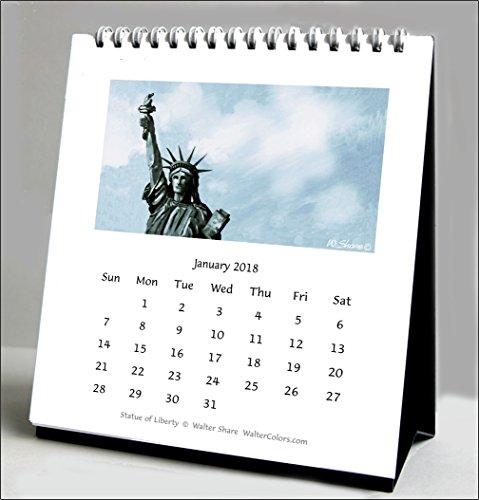 2019New York City Kalender - Desktop-kalender-easel