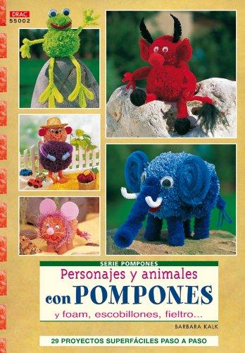 Serie Pompones nº 2.PERSONAJES Y ANIMALES CON POMPONES. (Cp - Serie Pompones (drac))
