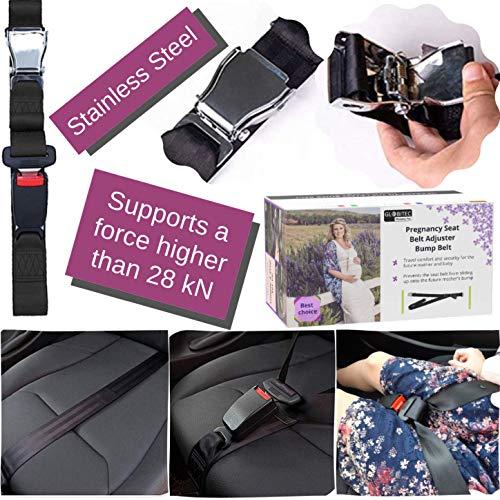 Globitec MommyPro Auto Sicherheitsgurt Adapter für Schwangere Frauen, Schwangerschaftsgurt fürs Auto, größenverstellbar -