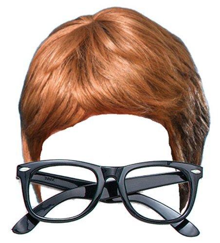 Austin Powers 2 Piece Fancy Dress Kit: Wig & Glasses