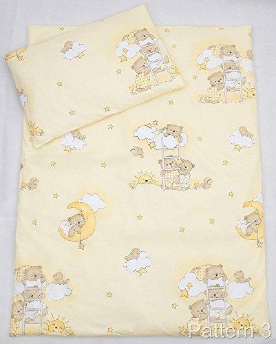 2 Pcs Cot Bedding Set - 120x90cm Duvet Cover & Pillowcase - Pattern 3