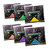 Mach Dich Bunt Mikrokonfetti - Holi Farben 6er Farbmix