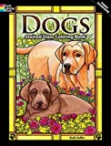 Dogs Stained Glass Coloring Book