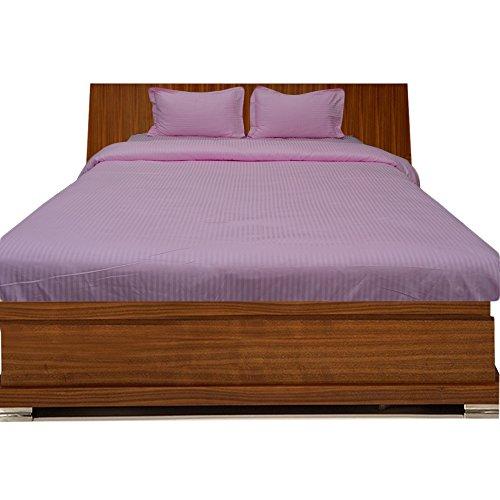 BudgetLinen 4PCs Duvet Set Fitted Sheet(Rosa Raya, Doble 135x 190 cm (4' 6 en 3'' x 6'), Pocket Size 25cm) 100% de Algodón Egipcio Calidad Premium 600 Número de Hilos