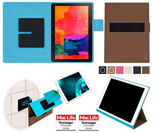 reboon Hülle für Samsung Galaxy TabPro 10.1 Tasche Cover Case Bumper | in Braun | Testsieger