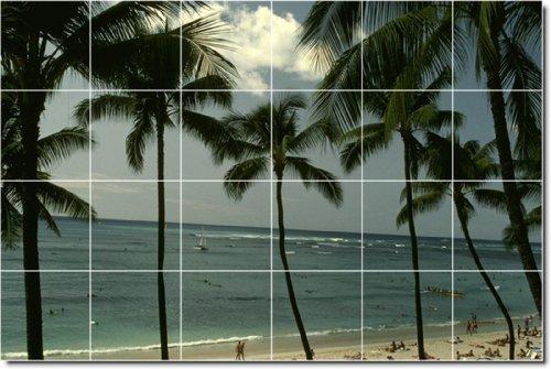 PLAYA FOTO PARA AZULEJOS MURAL 1  48X 182 88CM CON (24) 12X 12AZULEJOS DE CERAMICA