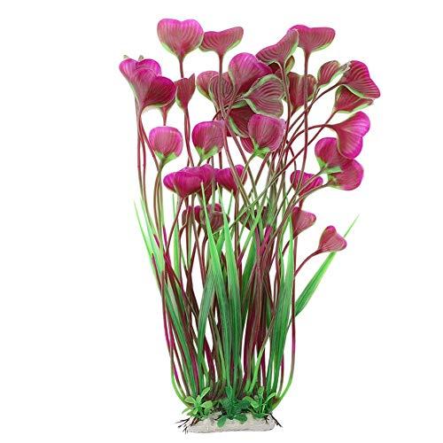 FTVOGUE Künstliche Wasserpflanzen aus Kunststoff für Aquarien, Herzform, Blätter, Unterwasser-Dekoration
