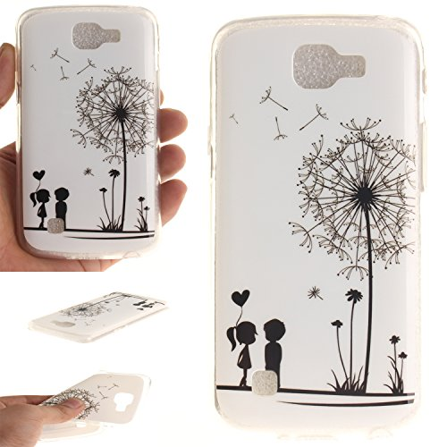 Price comparison product image For LG K4 (4, 5 Zoll) Case Cover,  Ecoway TPU Clear Soft Silicone Back Colorful Printed Pattern Silicone Case Protective Cover Cell Phone Case for LG K4 (4, 5 Zoll) - Couple dandelion