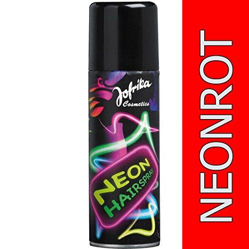 Spray fluo pour les cheveux années 80 rouge néon Spray néon pour les cheveux couleur pour cheveux disco soirée déguisée spray fluo Nouvel An carnaval accessoire 4251049928398