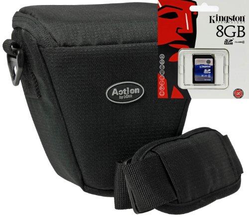 Foto Kamera Tasche ACTION COLT Set mit 8 GB SD für Panasonic Lumix Sony Alpha Nikon Coolpix Olymps Fujifilm usw.