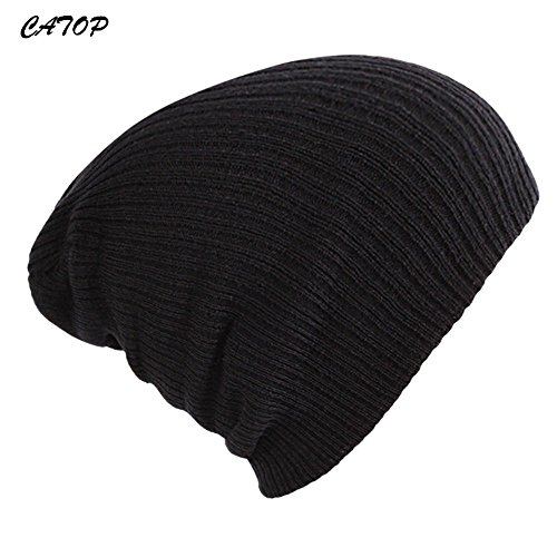 Solid Color Nieten (CATOP Slouch Beanie - Warm Hats - Knitted Hat - Knit Hat - Winter hat - Simple & Solid Colors for Men Women)
