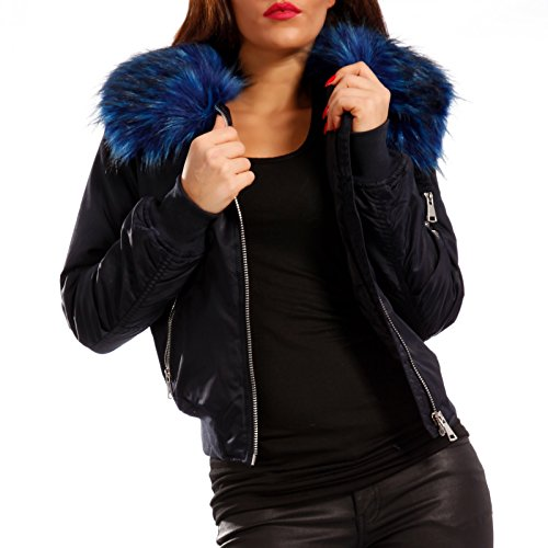 Young-Fashion -  Giacca  - Camicia - Basic - Maniche lunghe  - Donna Blau/Blau Fell