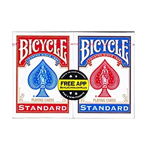 Conjunto de 2 barajas de cartas Bicycle Standard
