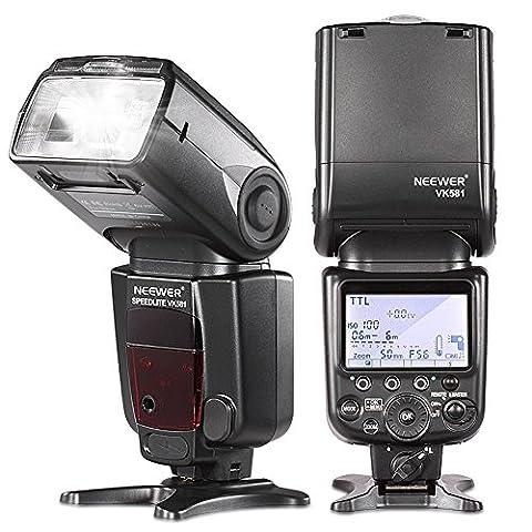 Neewer® i-TTL Master Slave Speedlite Flash Blitzgerät Blitzlicht * High-Speed-Synchronisation * D7100 D7000 für Nikon D5200 D5100 D5000 D3000 D3100 D300 D700 D600 D300S D90 D80 D70 D60 D50 und Nikon D70S Alle anderen Modelle