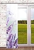 blickdichte Schiebegardine Lavendel 60x245cm Raumteiler Schaufensterdeko