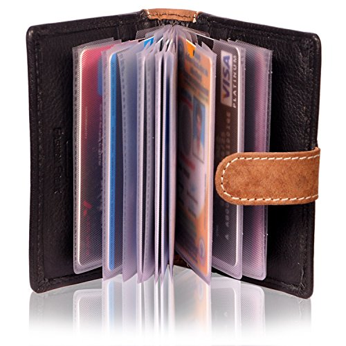 new style 121a2 aaec1 Fashion Freak Credit Card ATM Card Case Holder Leather Black Brown Colour -  Best Gift For Yourself or Your Loved Ones (BLACK & HUNTER LEATHER)