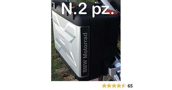 2 Stück Reflektierende Reflektoren Motorrad R1200 R1250 Aufkleber Schwarz Schwarz Vario Bags Auto