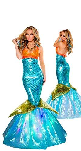 nihiug Halloween Kostüm Disney Erwachsene Rolle Spielen Sexy Meerjungfrau Prinzessin Rock Eingewickelt Brust Kleid Ds Performance Service Vorbereiten Für Mädchen Retro - Sexy Disney Prinzessin Kostüm Für Erwachsene