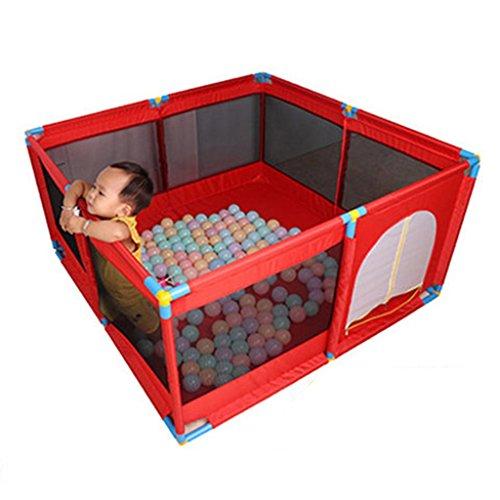 Recinto bambini Grande Box Porta Giochi per Bambini Portatile, Play Yard Pieghevole Divisorio per Sala Oxford Cloth 8 Side Panel (Colore : Red)