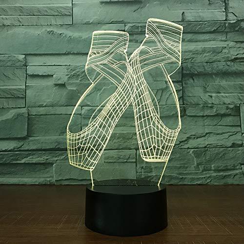 Baby Geschenke Kreative Leuchte 3D USB Decor Vision Schreibtisch Lamparas 7 Farbe Veränderbar Ballettschuhe Rutschen Led Nachtlichter