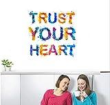 ZigRocket Trust Ur Heart DIY Wall Sticker Removal Vinyl Home Decor Wall Decor Decal Wall Murals 55 x 60 cm